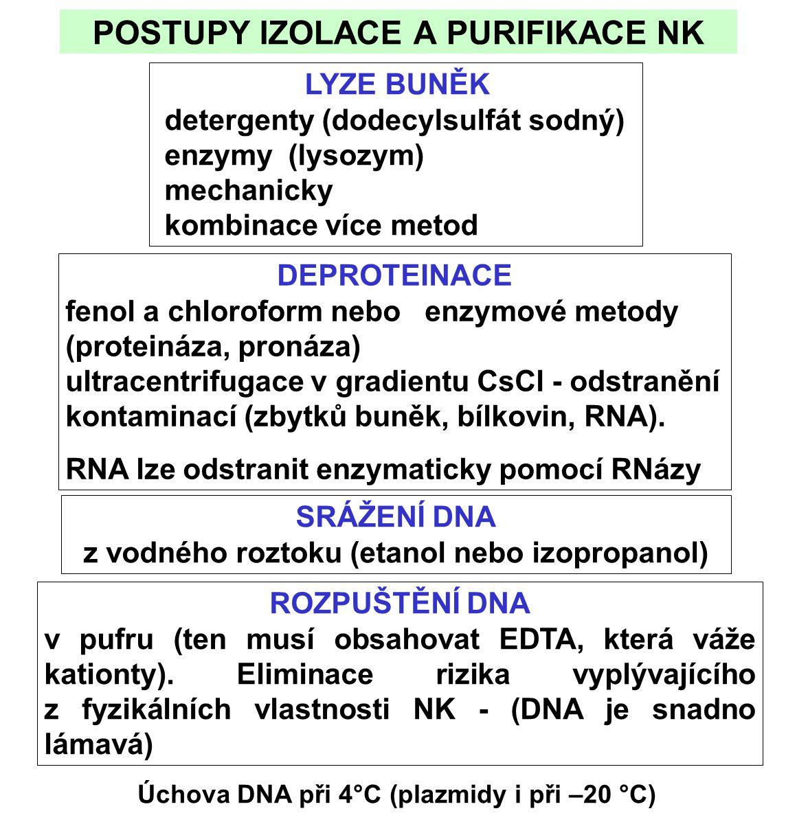 POSTUPY IZOLACE A PURIFIKACE NK