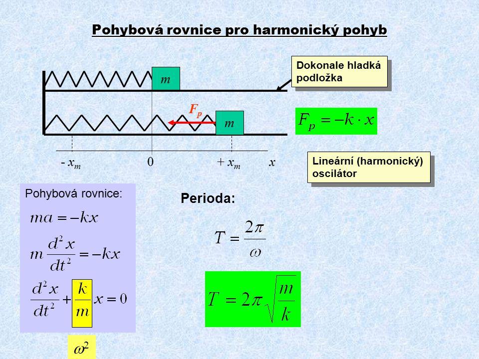 Pohybová rovnice pro harmonický pohyb