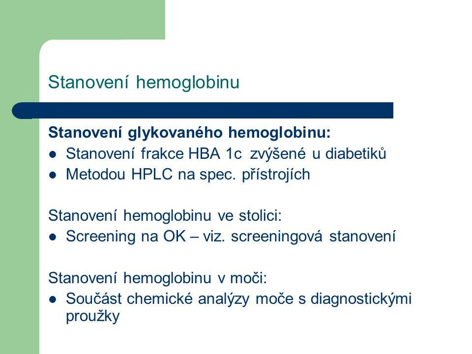 Stanovení hemoglobinu
