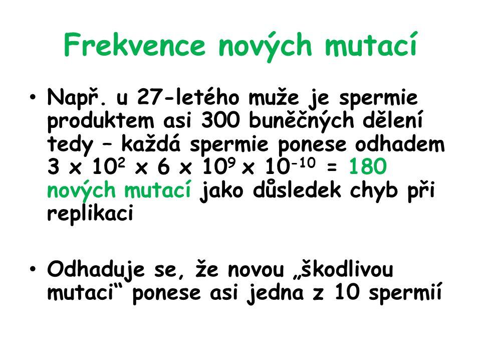 Frekvence nových mutací