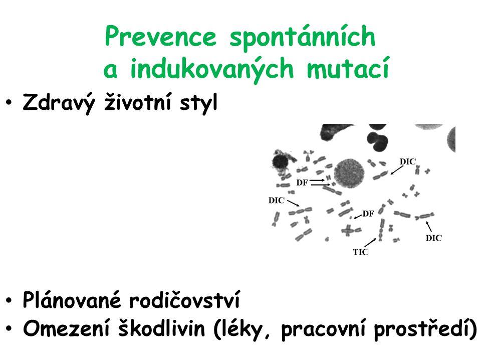 Prevence spontánních a indukovaných mutací
