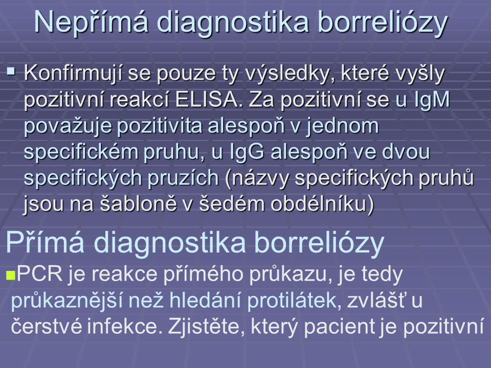 Nepřímá diagnostika borreliózy