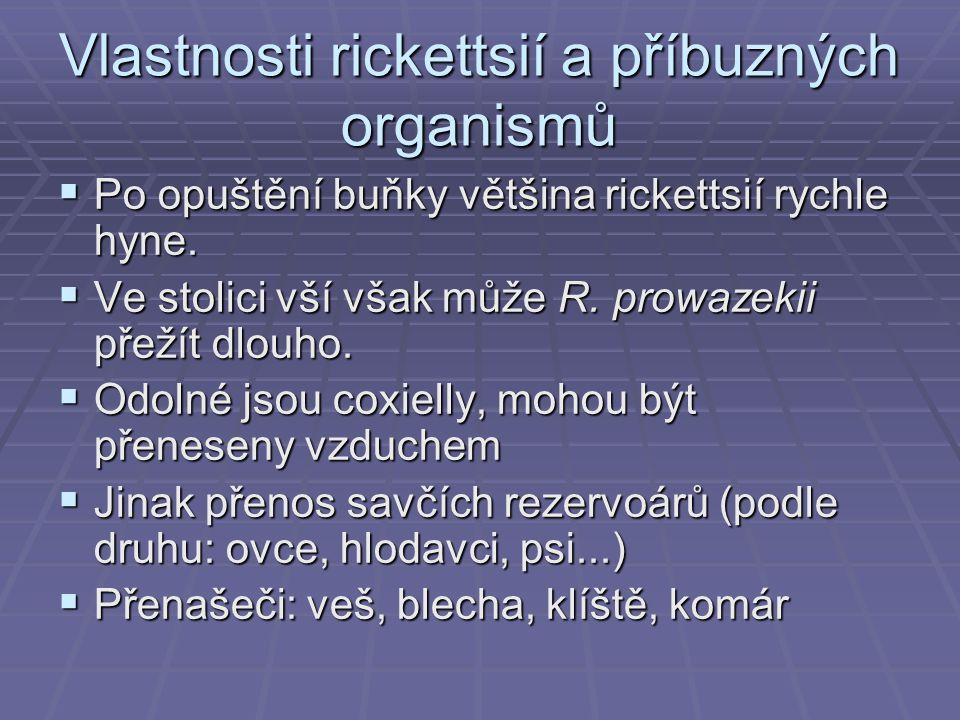 Vlastnosti rickettsií a příbuzných organismů