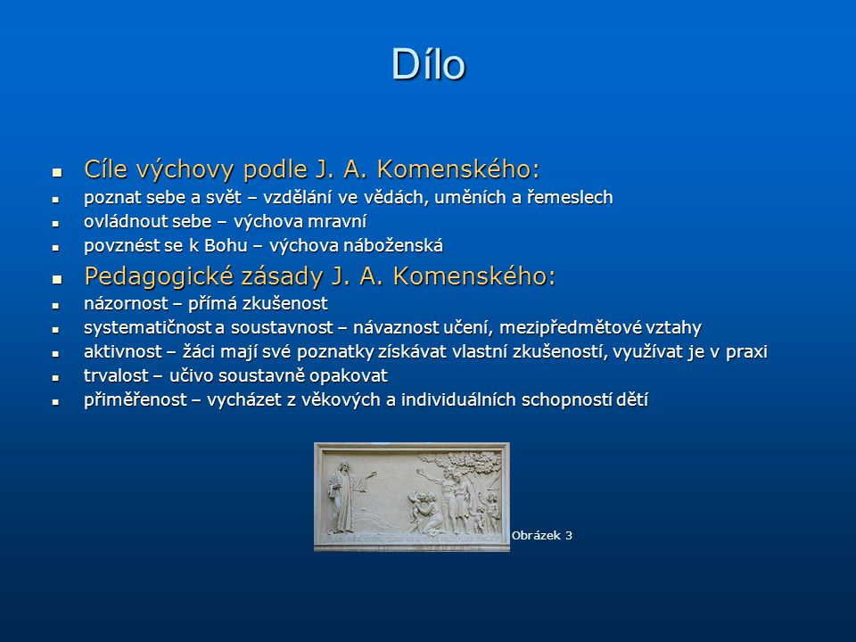 Dílo Cíle výchovy podle J. A. Komenského: