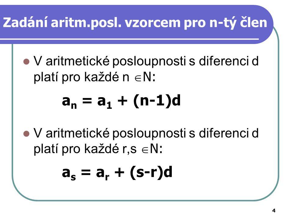 Zadání aritm.posl. vzorcem pro n-tý člen