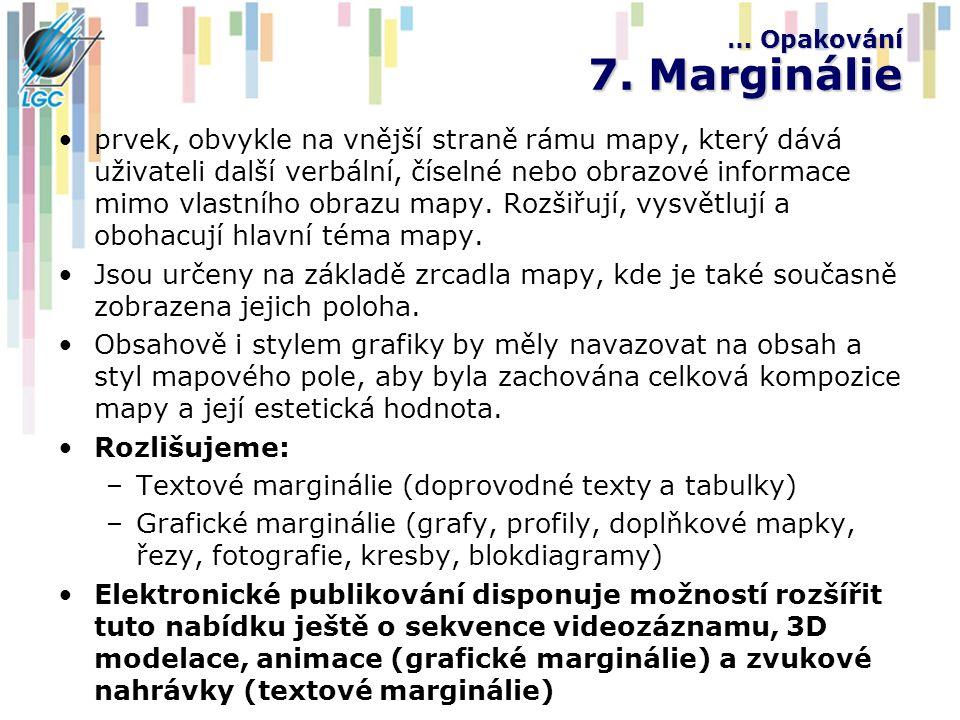 … Opakování 7. Marginálie