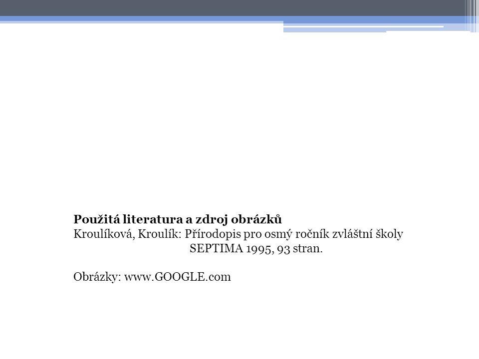 Použitá literatura a zdroj obrázků