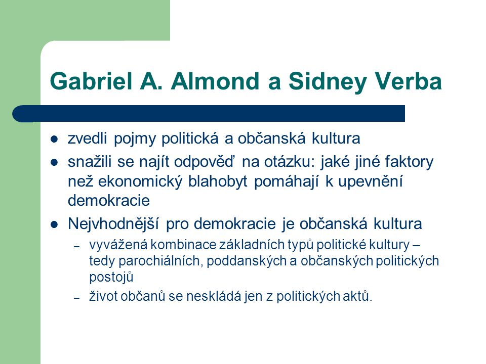Gabriel A. Almond a Sidney Verba