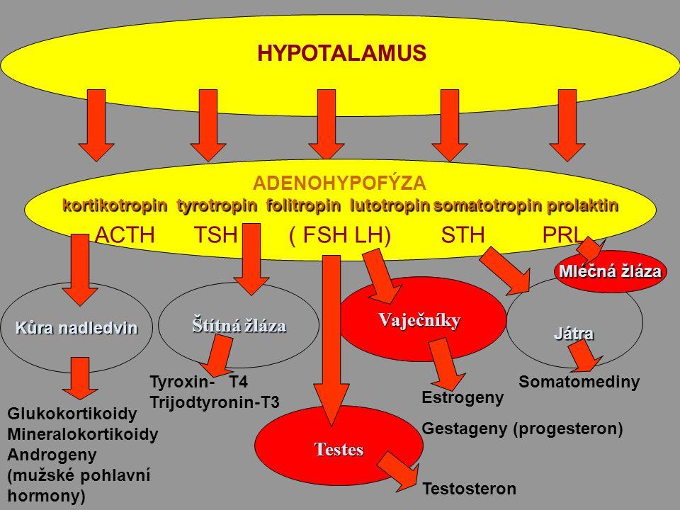 kortikotropin tyrotropin folitropin lutotropin somatotropin prolaktin