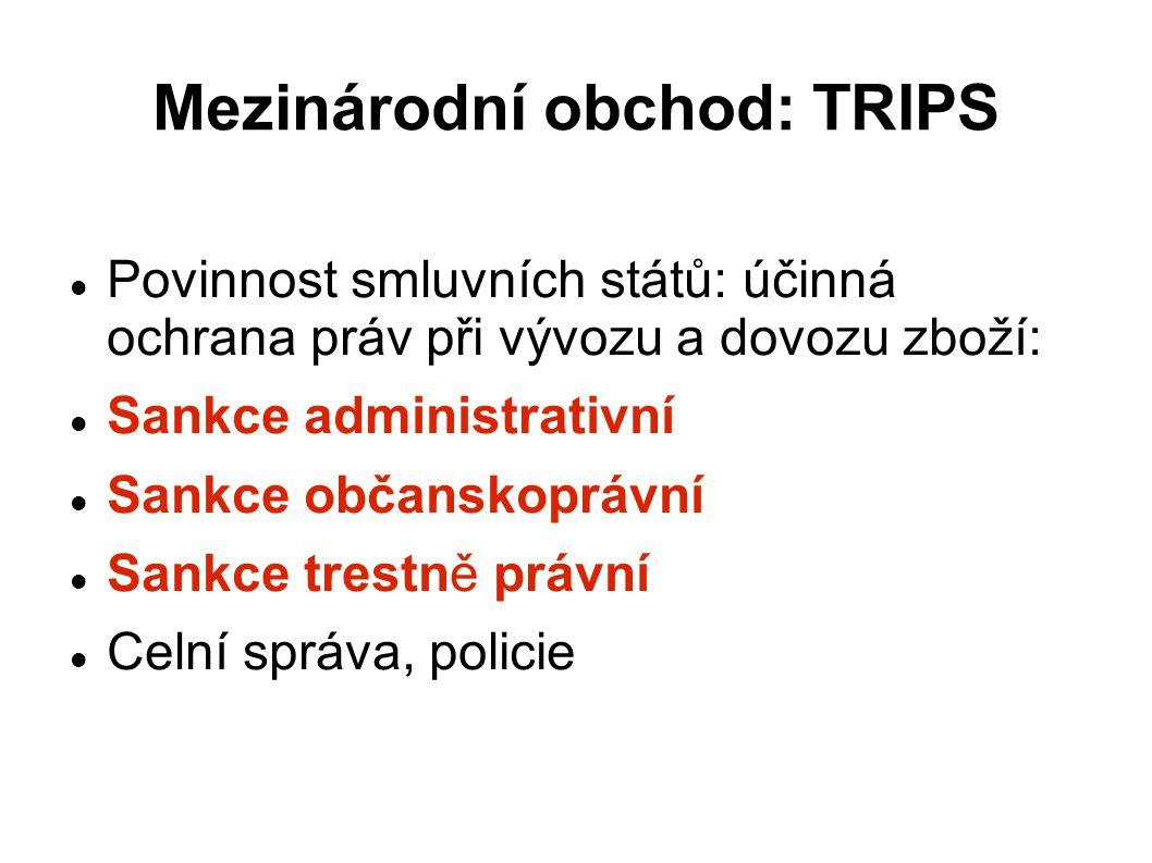 Mezinárodní obchod: TRIPS