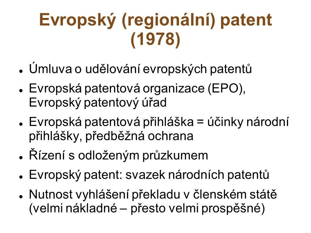 Evropský (regionální) patent (1978)