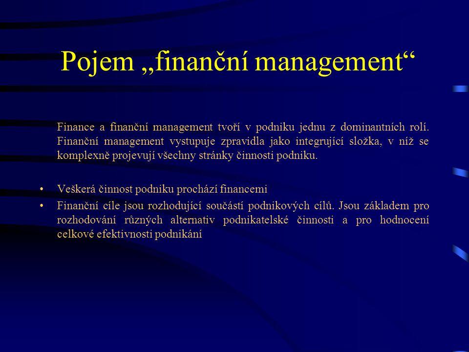 """Pojem """"finanční management"""