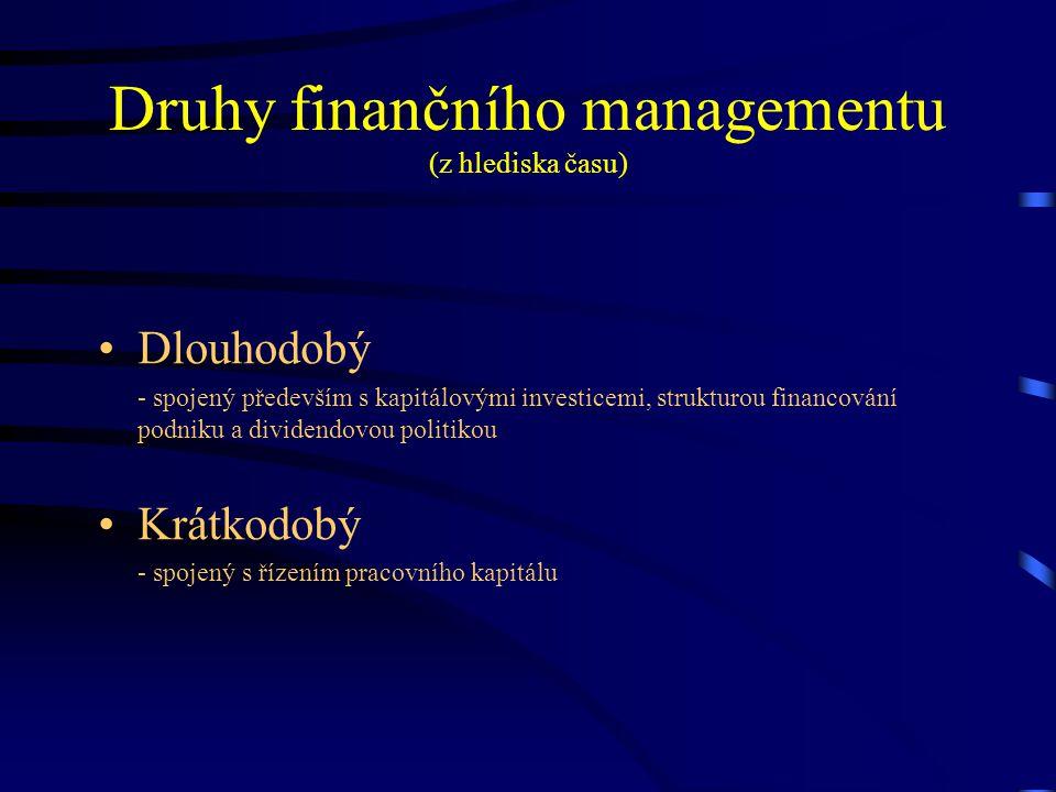 Druhy finančního managementu (z hlediska času)
