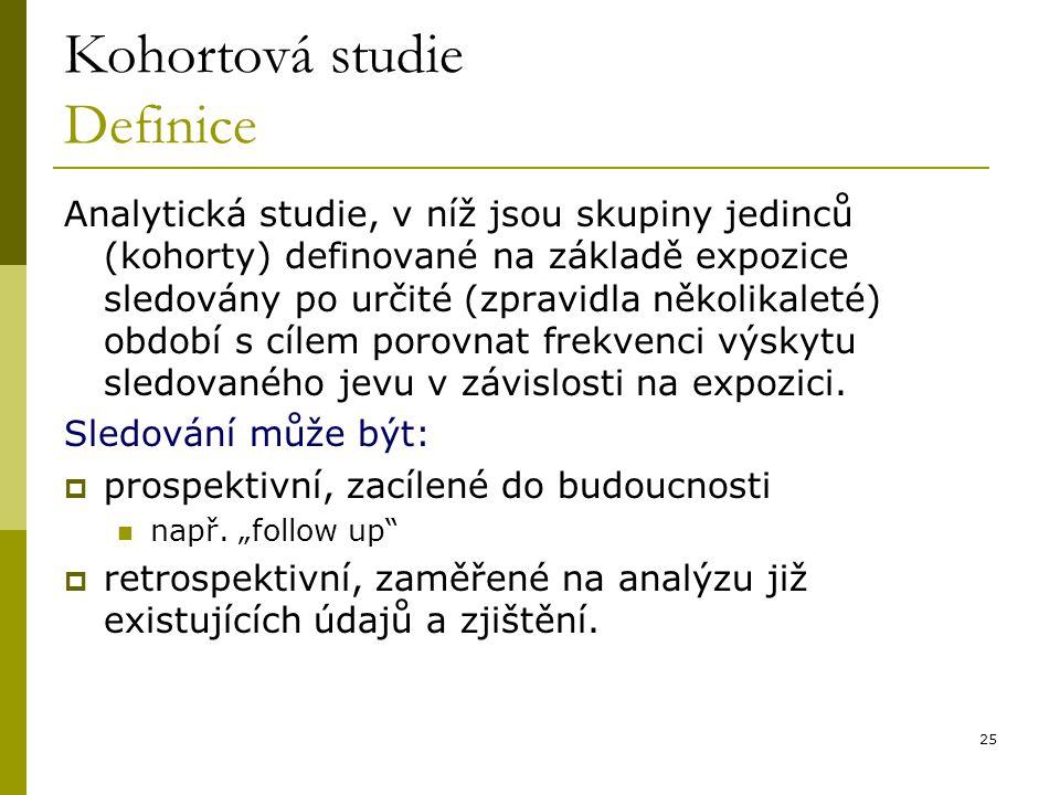 Kohortová studie Definice