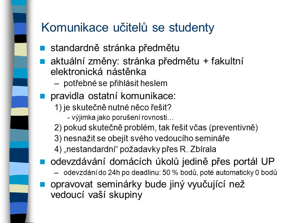 Komunikace učitelů se studenty