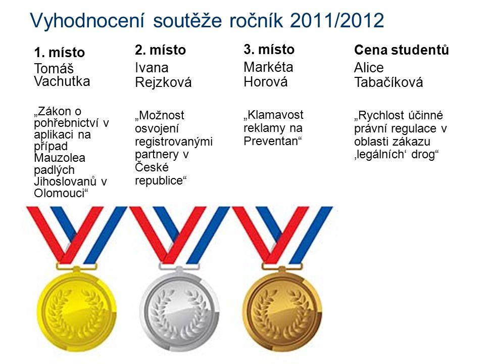 Vyhodnocení soutěže ročník 2011/2012