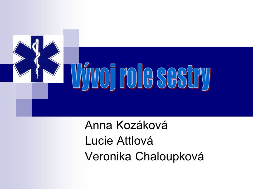Anna Kozáková Lucie Attlová Veronika Chaloupková