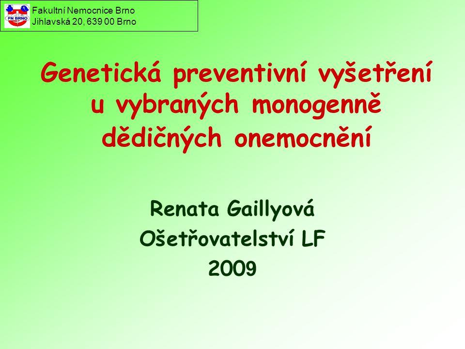 Renata Gaillyová Ošetřovatelství LF 2009