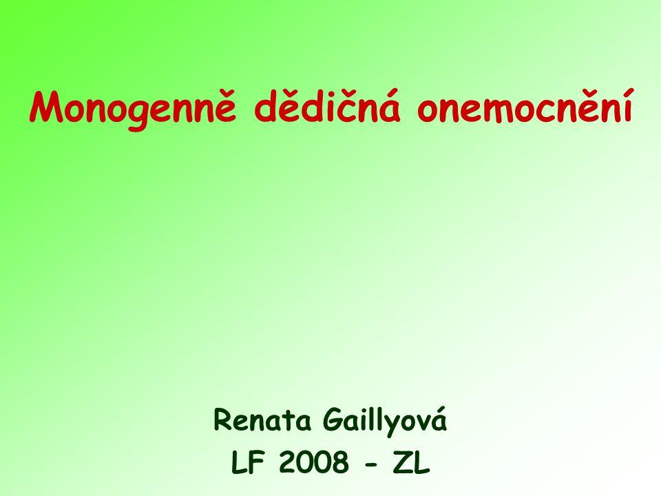 Monogenně dědičná onemocnění
