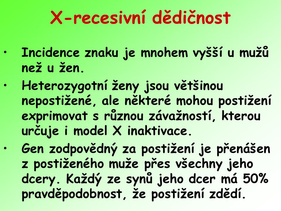 X-recesivní dědičnost