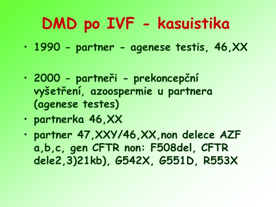 DMD po IVF - kasuistika 1990 - partner - agenese testis, 46,XX