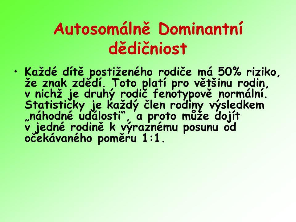 Autosomálně Dominantní dědičniost