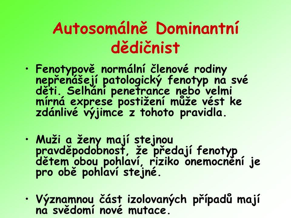 Autosomálně Dominantní dědičnist