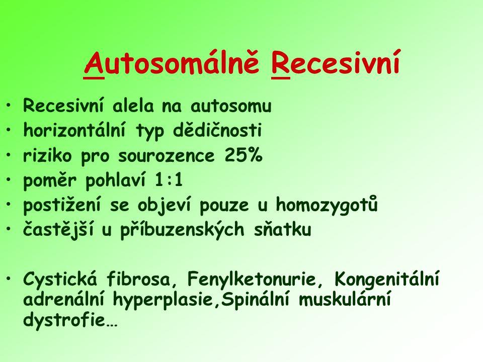 Autosomálně Recesivní