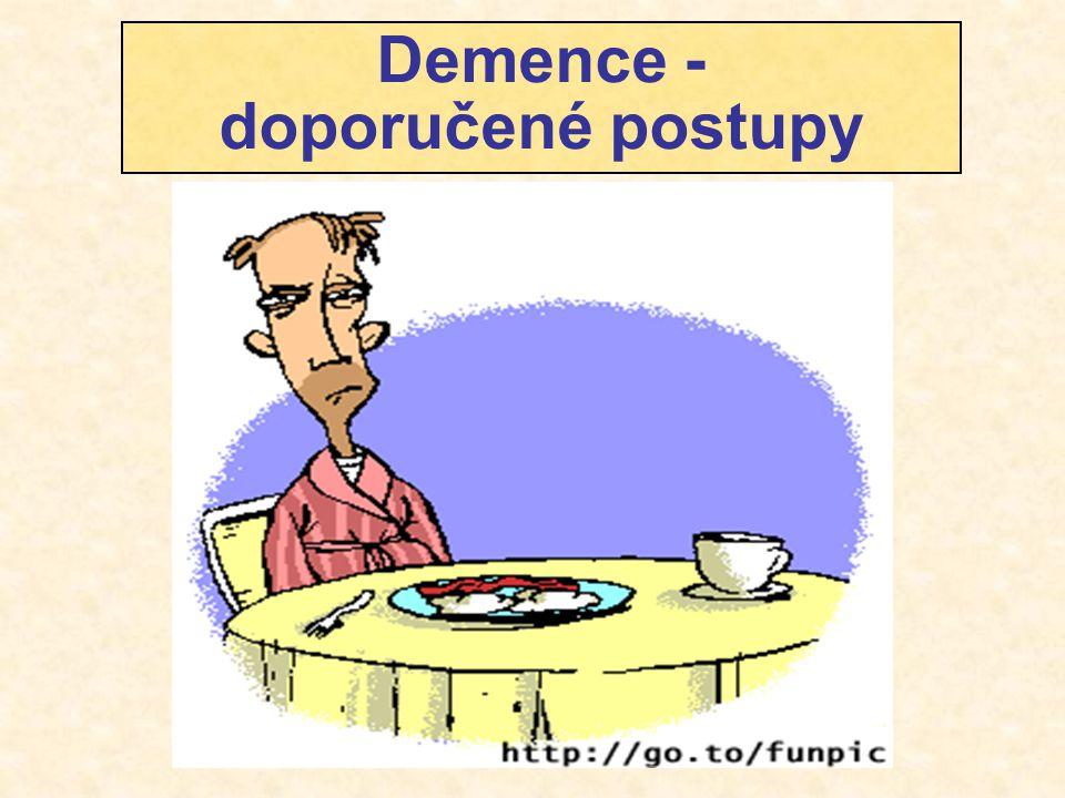 Demence - doporučené postupy