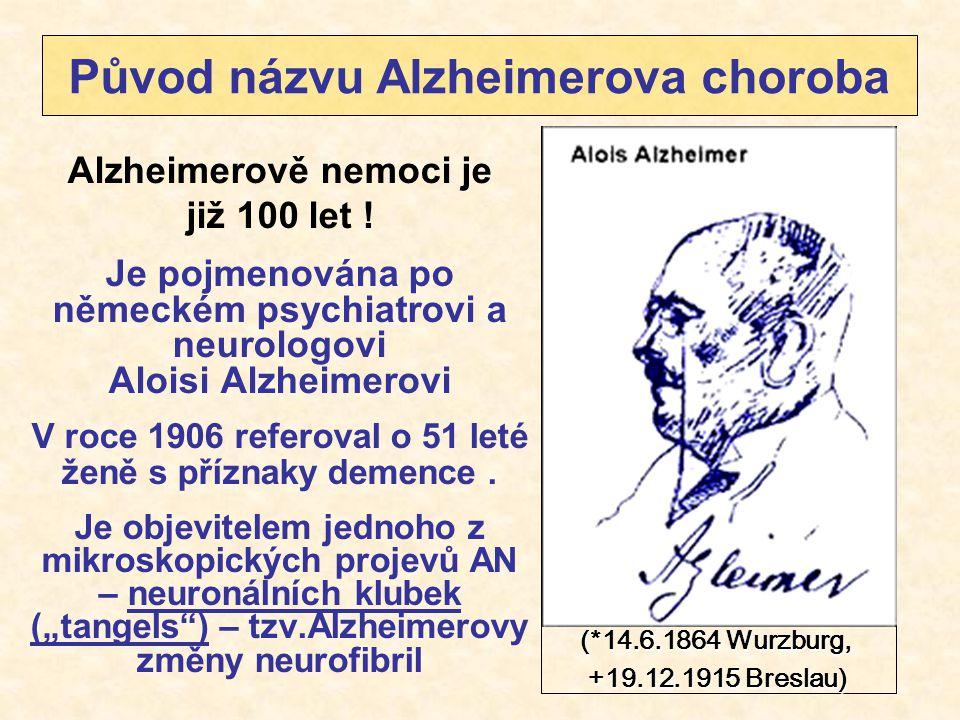 Původ názvu Alzheimerova choroba