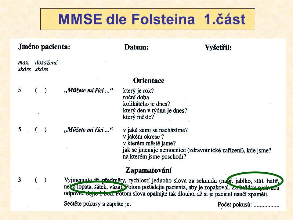 MMSE dle Folsteina 1.část