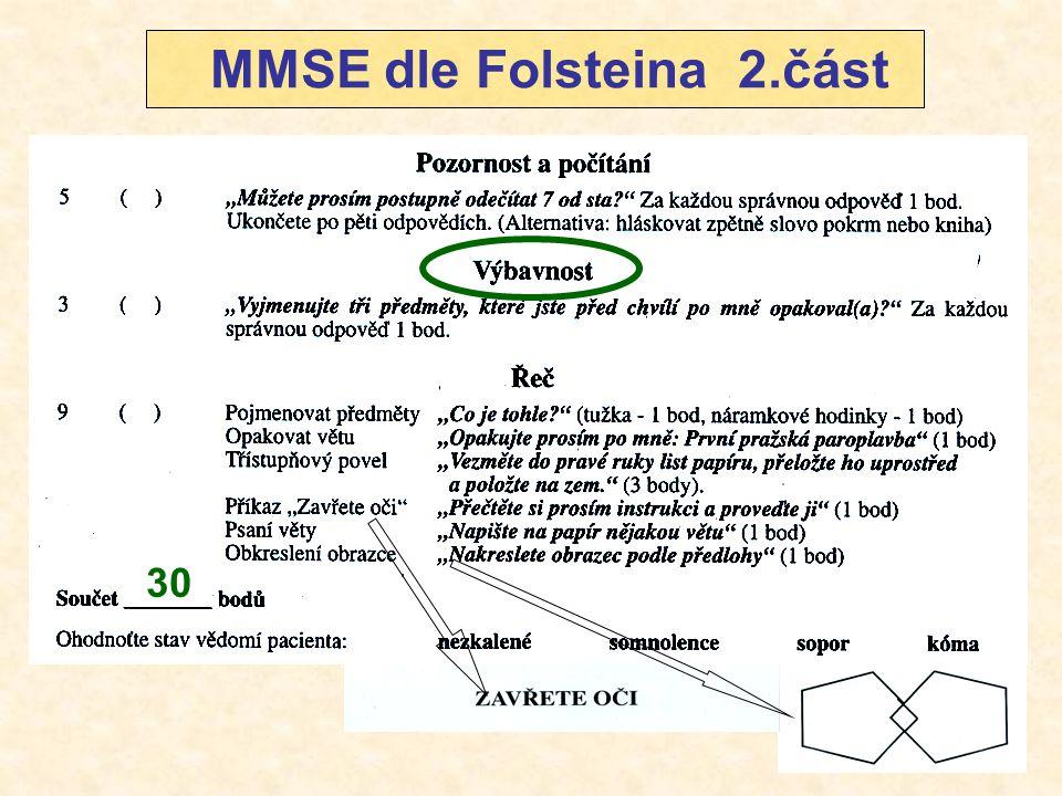 MMSE dle Folsteina 2.část