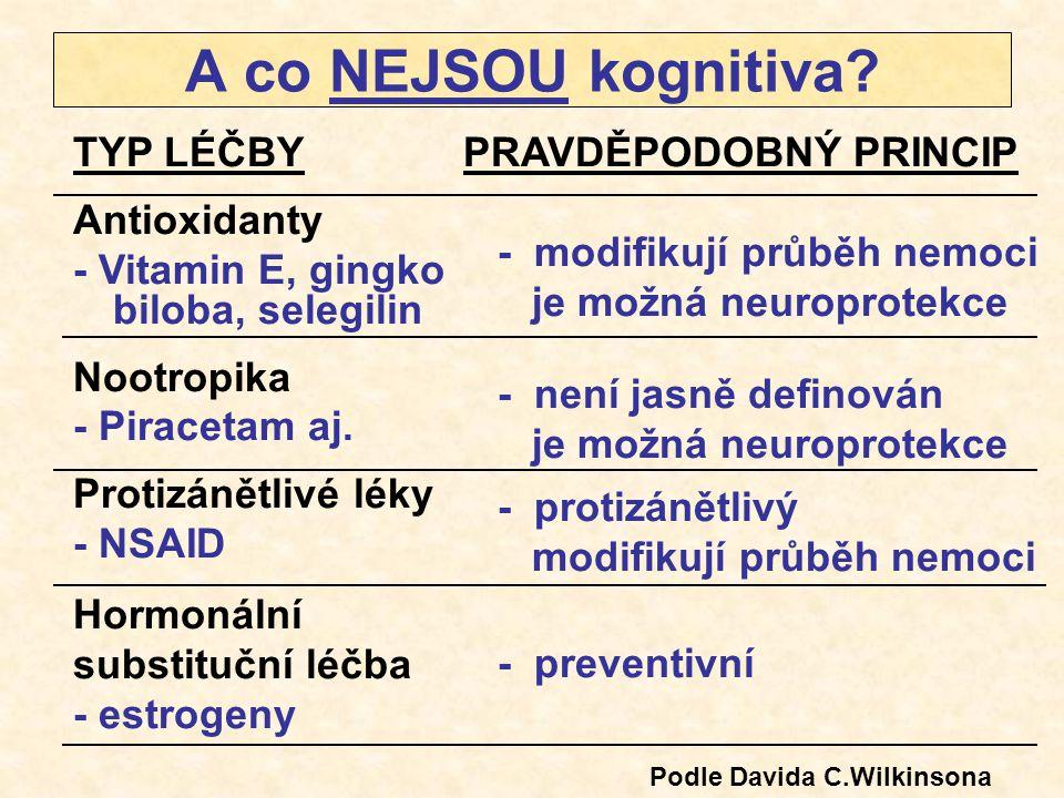 A co NEJSOU kognitiva TYP LÉČBY Antioxidanty