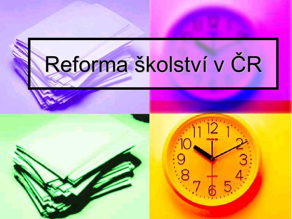 Reforma školství v ČR