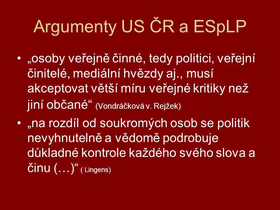 Argumenty US ČR a ESpLP