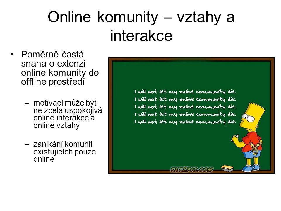 Online komunity – vztahy a interakce