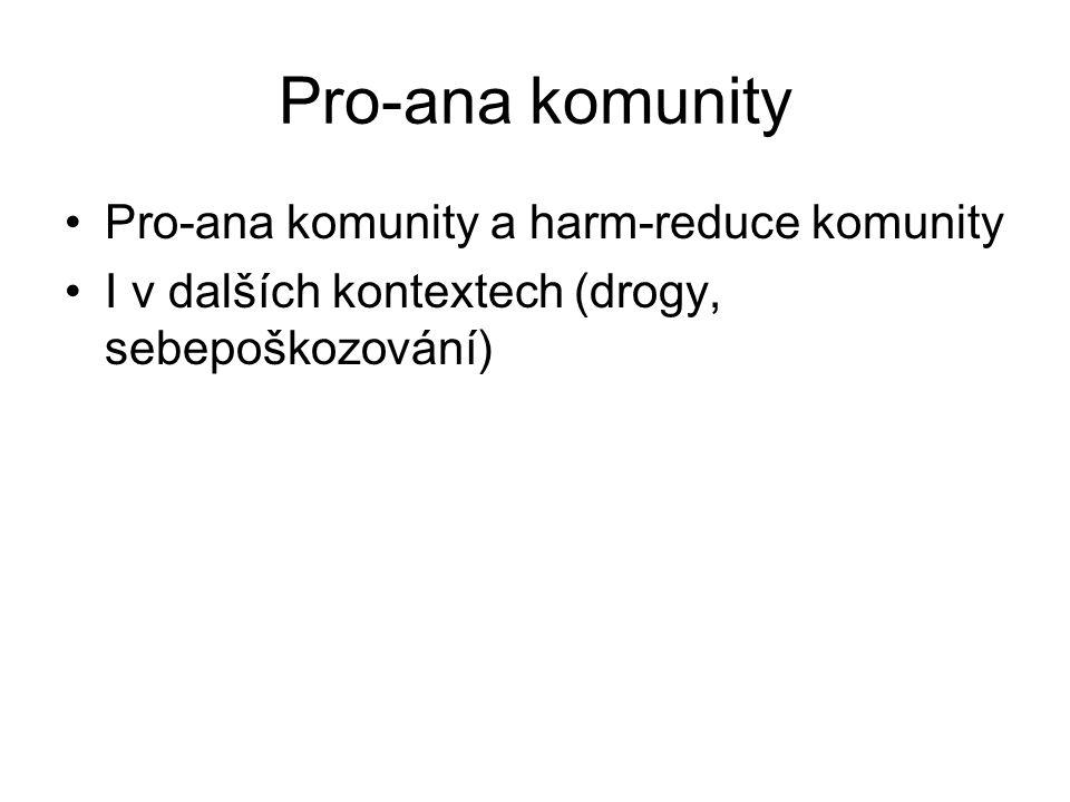 Pro-ana komunity Pro-ana komunity a harm-reduce komunity