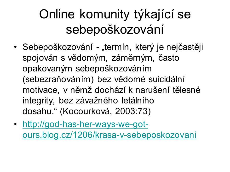 Online komunity týkající se sebepoškozování