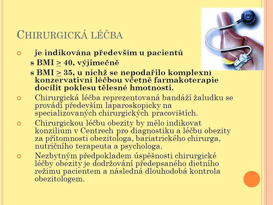 Chirurgická léčba je indikována především u pacientů