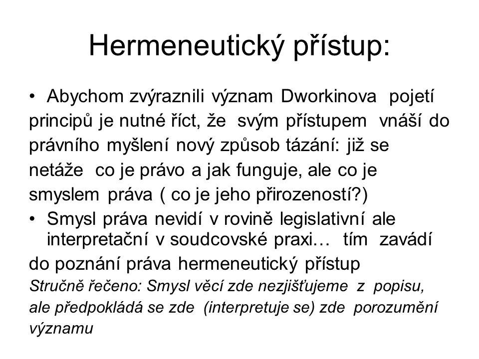Hermeneutický přístup: