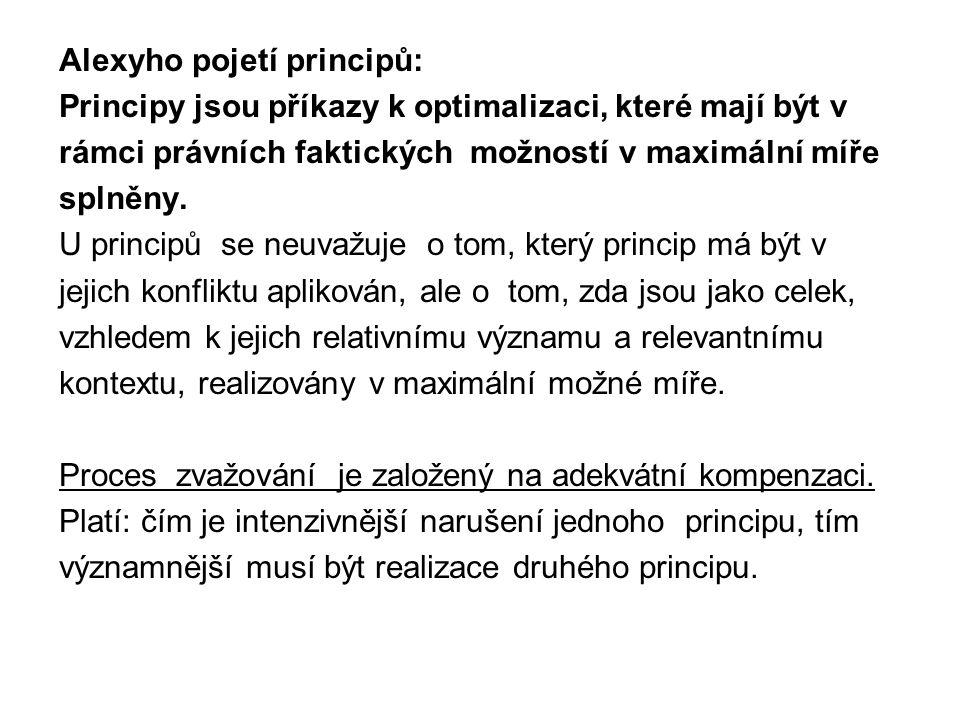Alexyho pojetí principů: