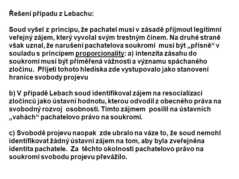Řešení případu z Lebachu: