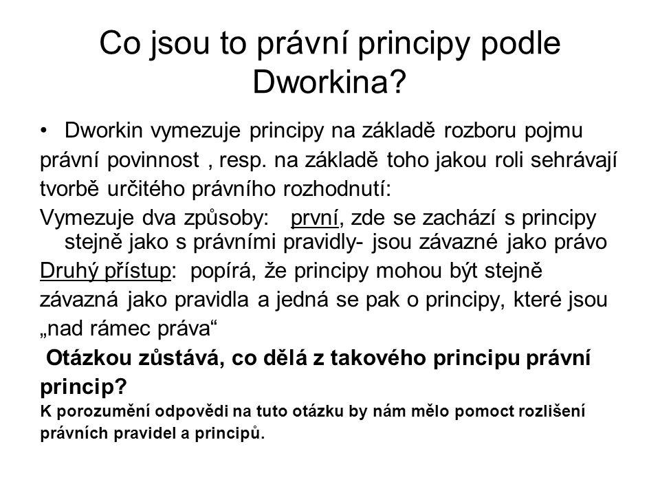 Co jsou to právní principy podle Dworkina