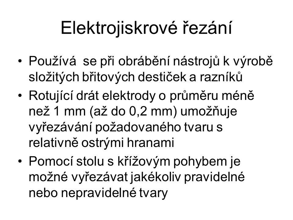 Elektrojiskrové řezání