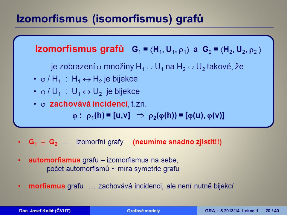 Izomorfismus (isomorfismus) grafů