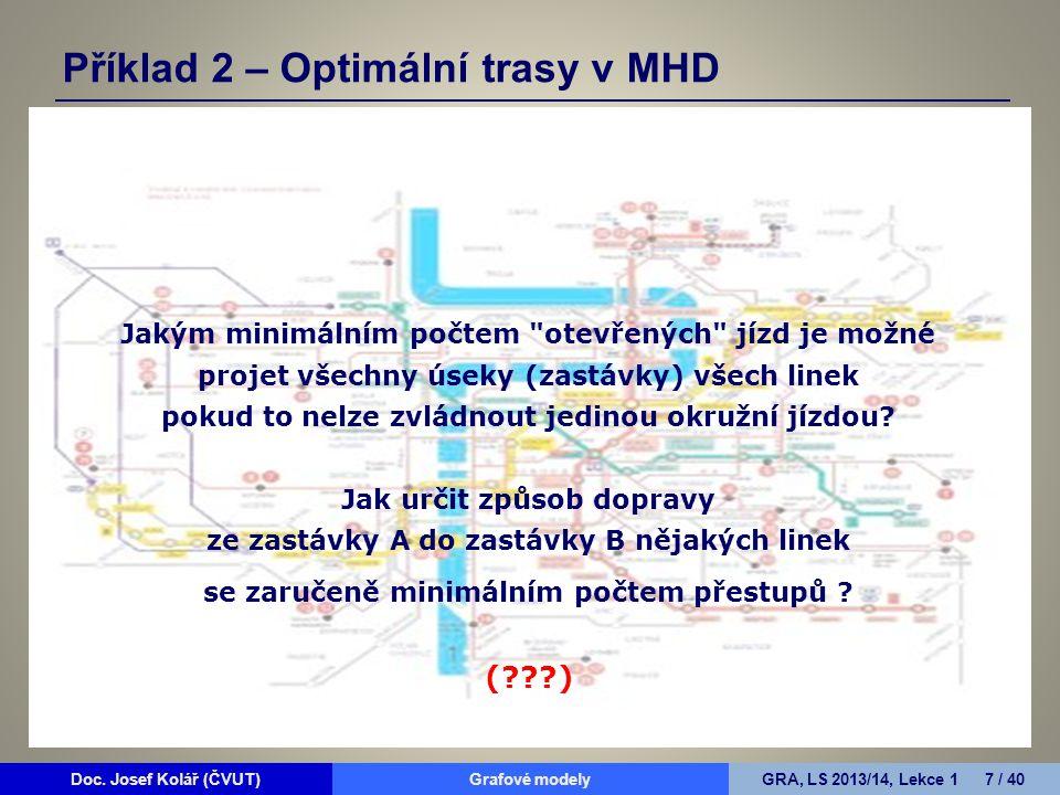 Příklad 2 – Optimální trasy v MHD