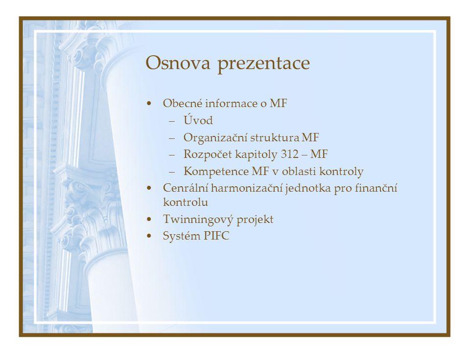 Osnova prezentace Obecné informace o MF Úvod Organizační struktura MF