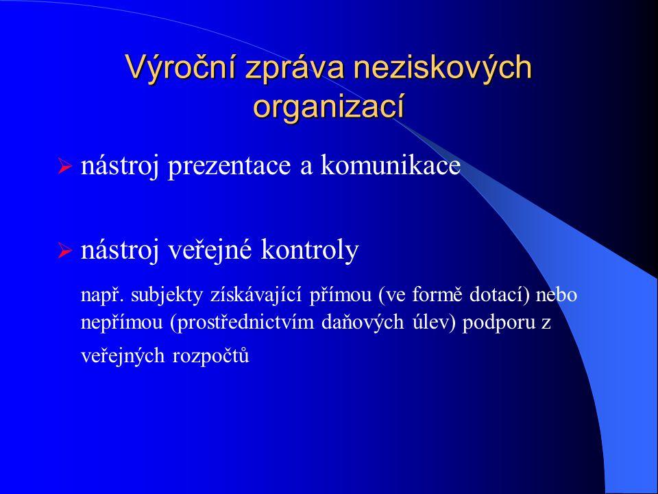 Výroční zpráva neziskových organizací