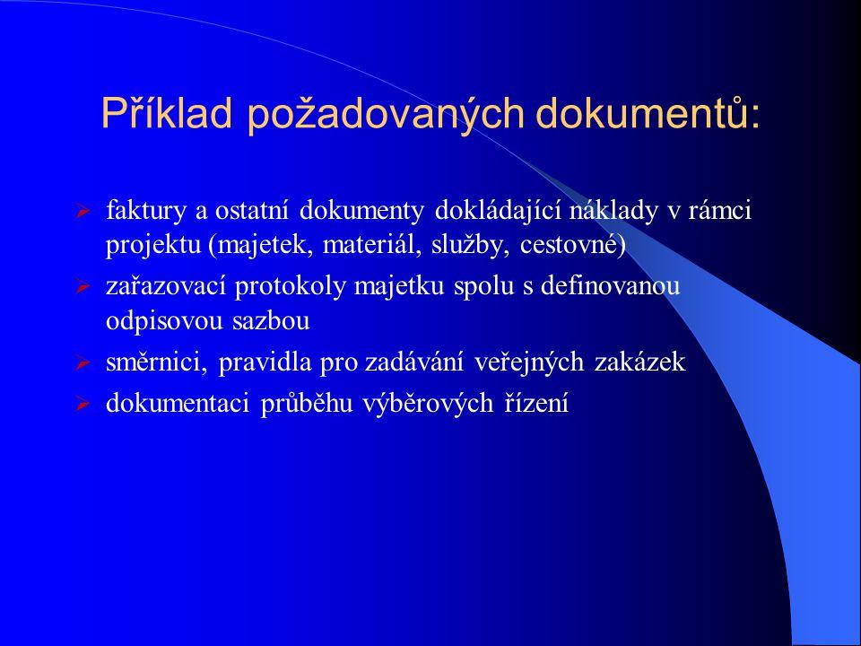 Příklad požadovaných dokumentů: