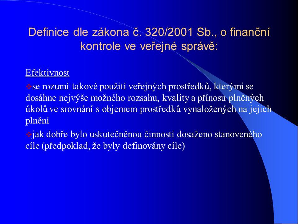 Definice dle zákona č. 320/2001 Sb